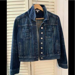 Express- Women's Blue Shrunken Denim Jacket